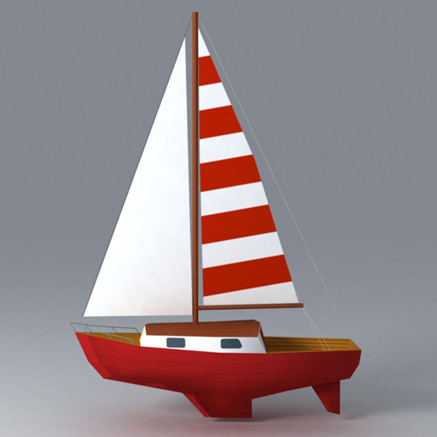 Zeilboot royalty-free 3d model - Preview no. 1