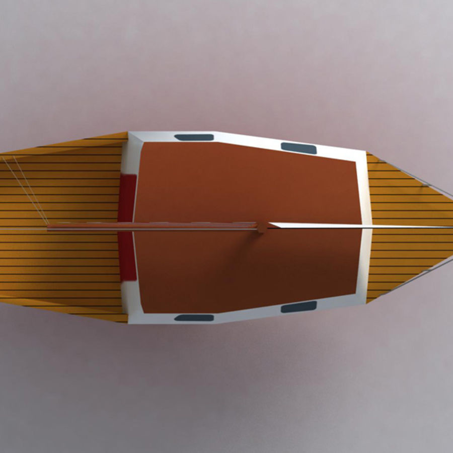 Zeilboot royalty-free 3d model - Preview no. 3