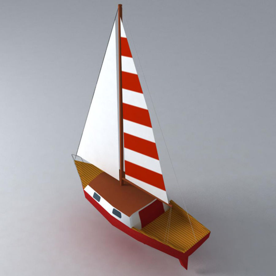 Zeilboot royalty-free 3d model - Preview no. 4
