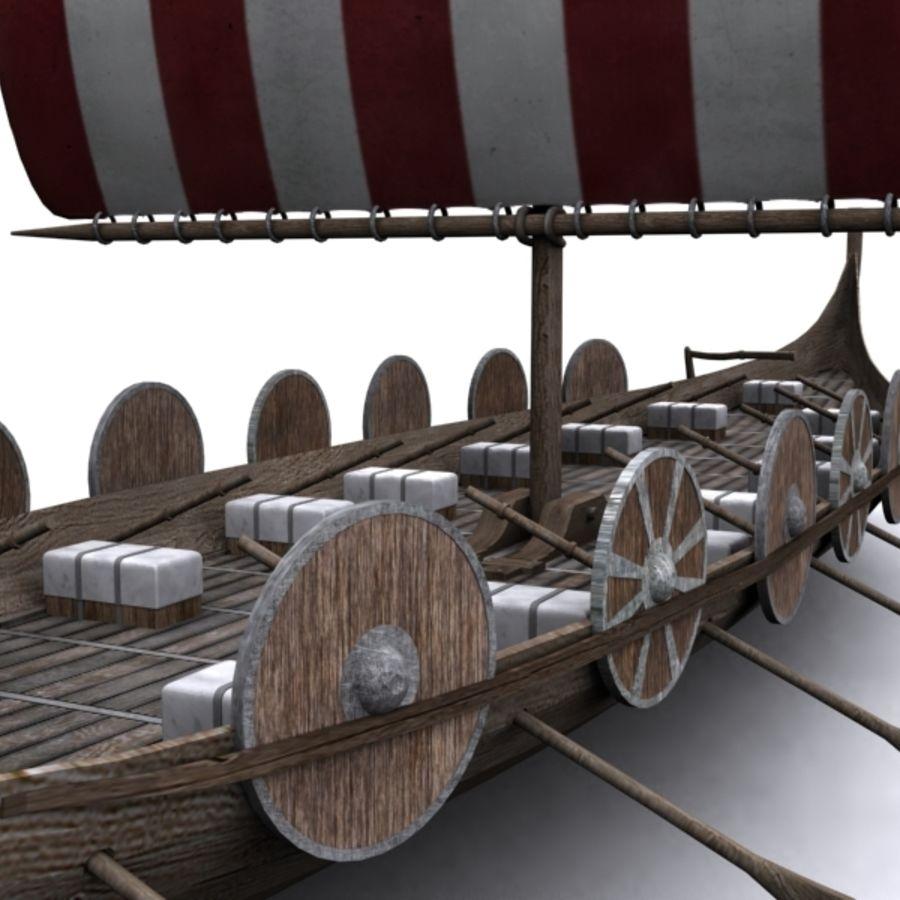 Navire viking royalty-free 3d model - Preview no. 4