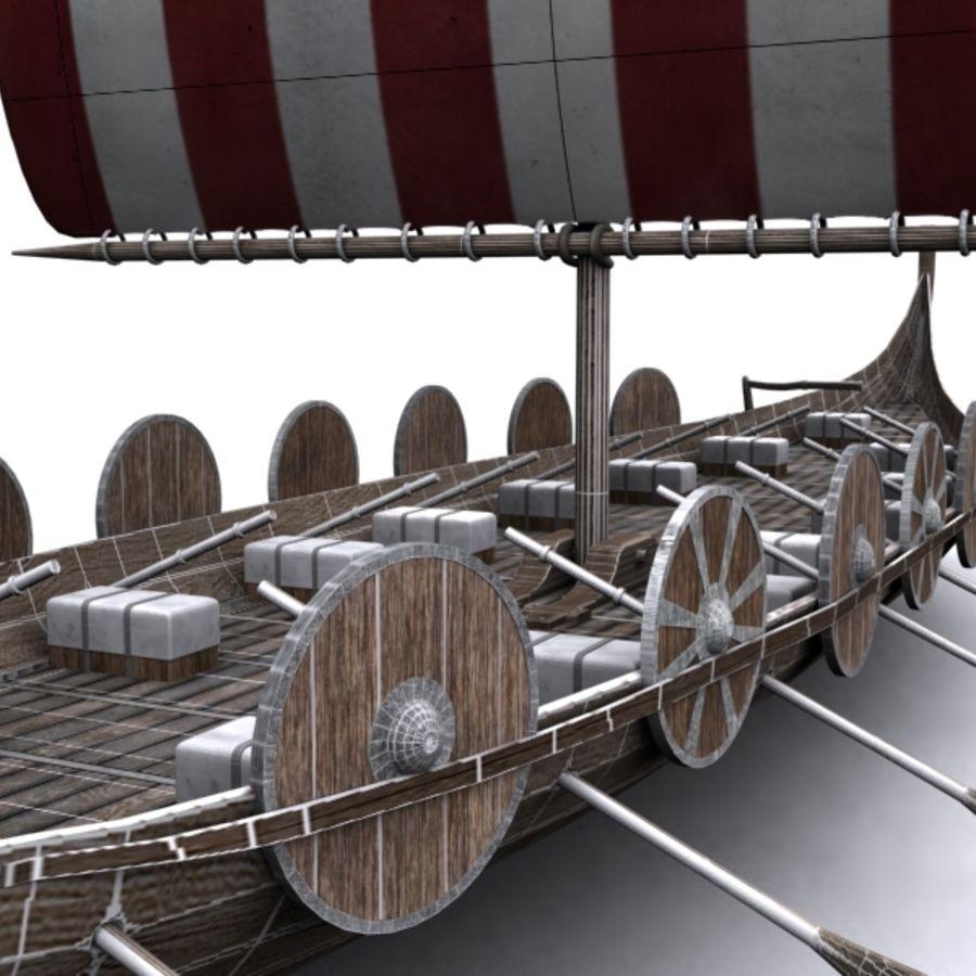 Navire viking royalty-free 3d model - Preview no. 5