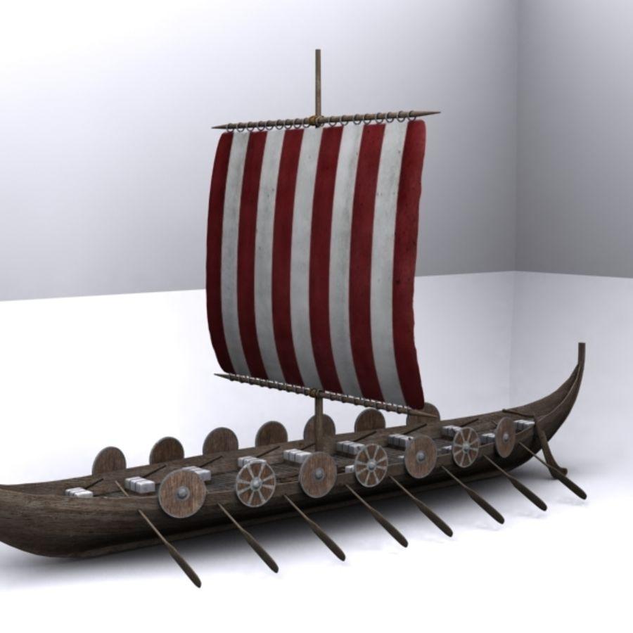 Navire viking royalty-free 3d model - Preview no. 3
