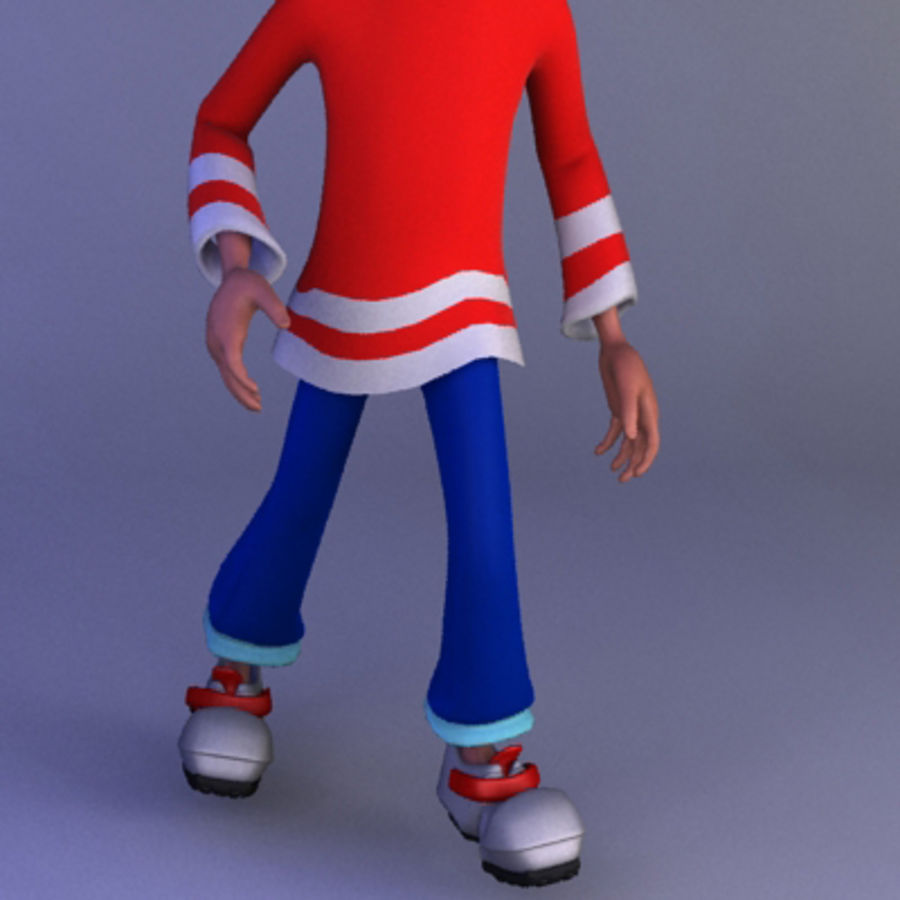 Cartoon boy andy royalty-free 3d model - Preview no. 10