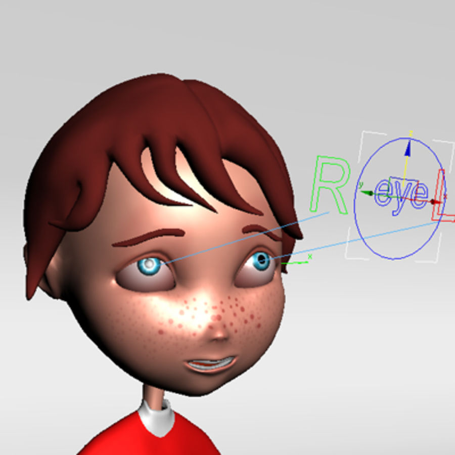 Cartoon boy andy royalty-free 3d model - Preview no. 13