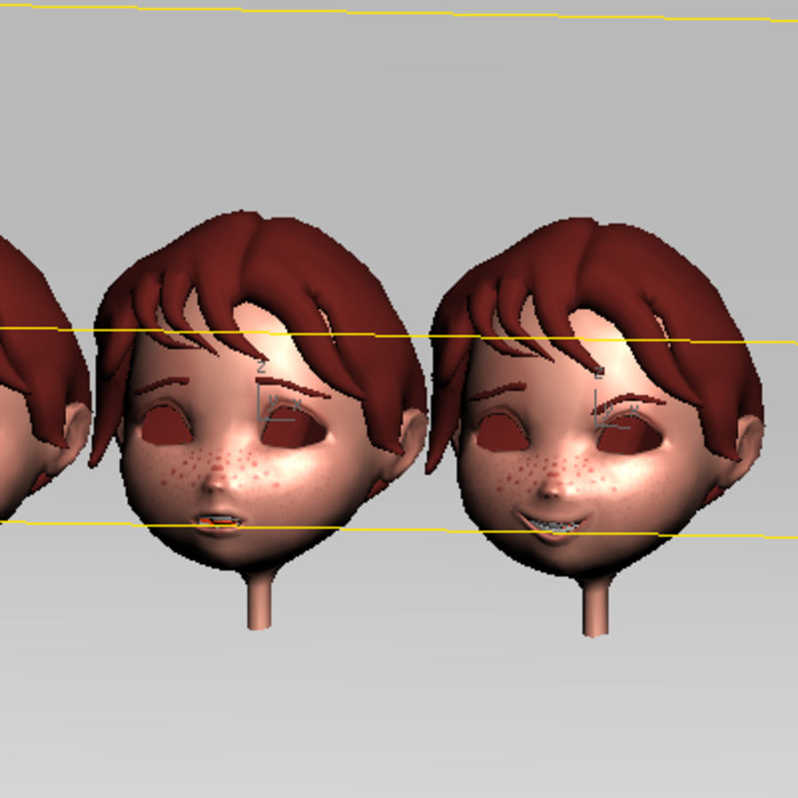 Cartoon boy andy royalty-free 3d model - Preview no. 21