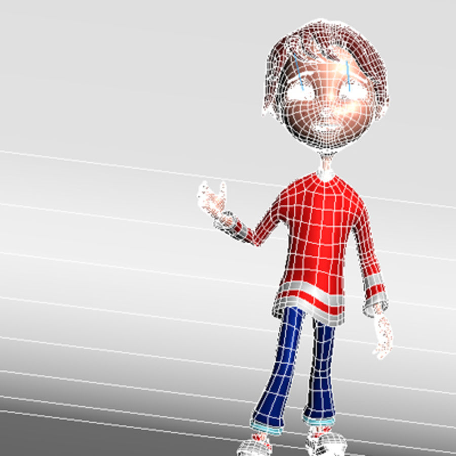 Cartoon boy andy royalty-free 3d model - Preview no. 12