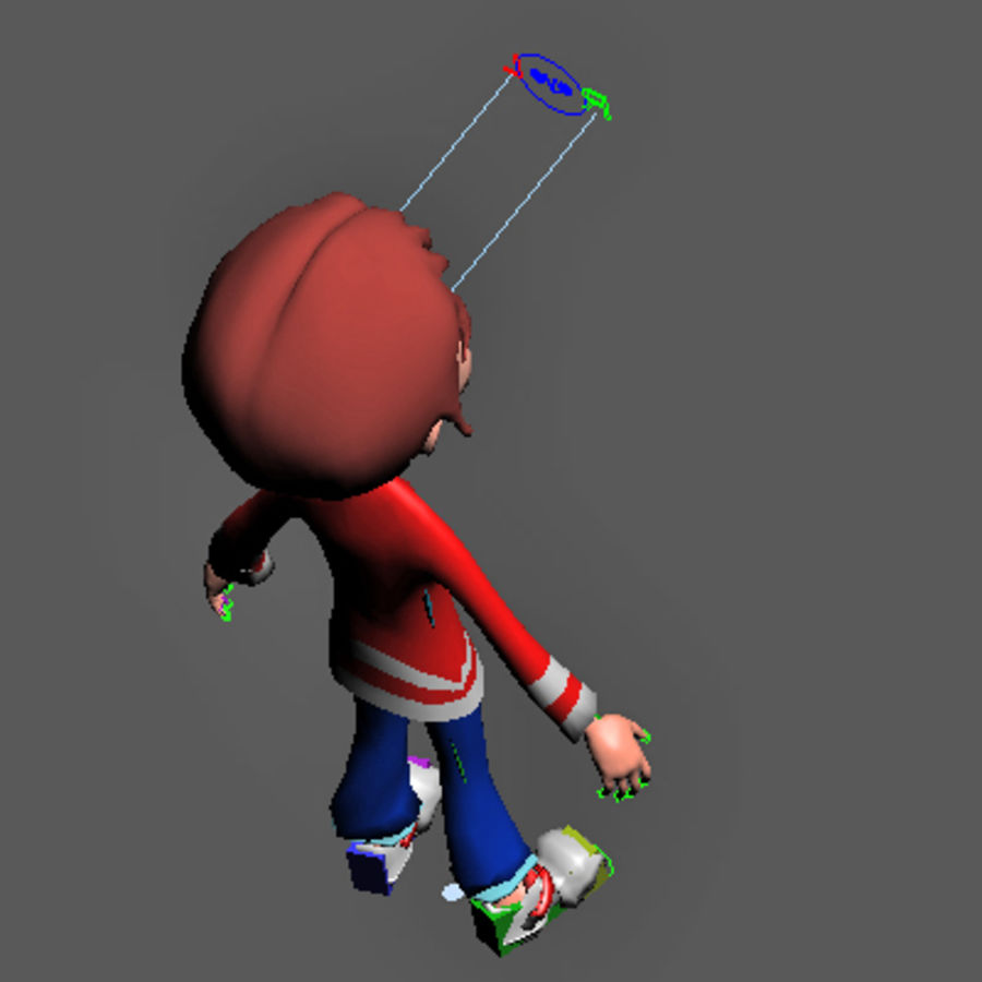 Cartoon boy andy royalty-free 3d model - Preview no. 17