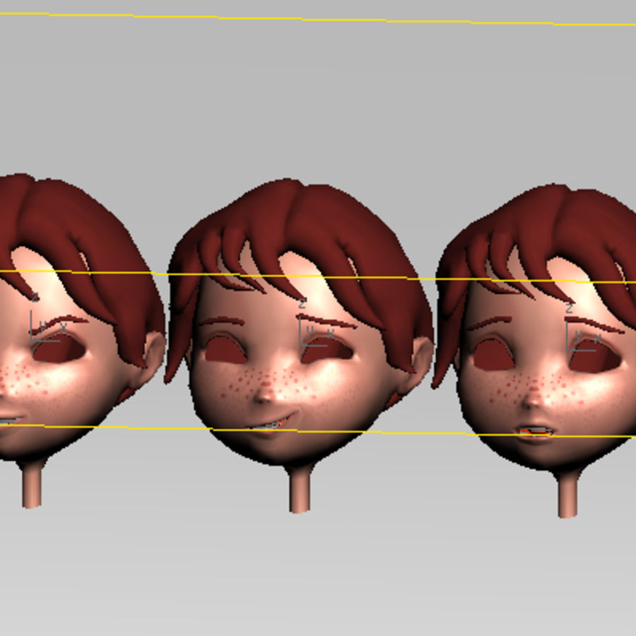 Cartoon boy andy royalty-free 3d model - Preview no. 20