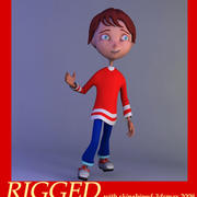 Cartoon boy andy 3d model