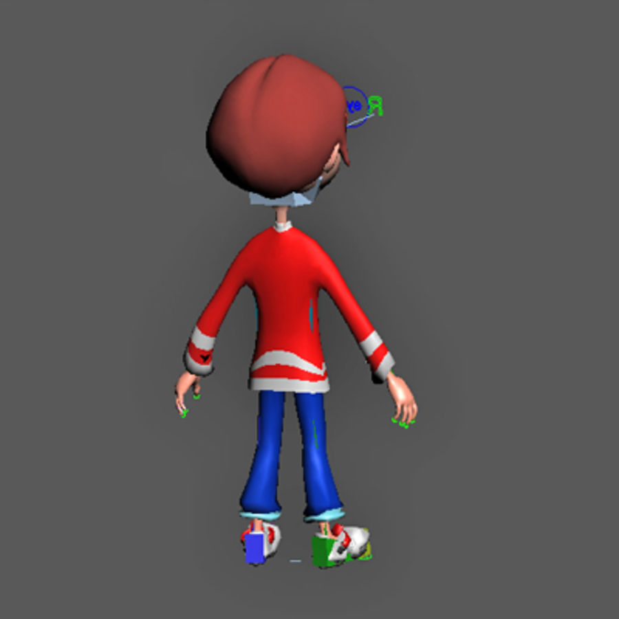 Cartoon boy andy royalty-free 3d model - Preview no. 18