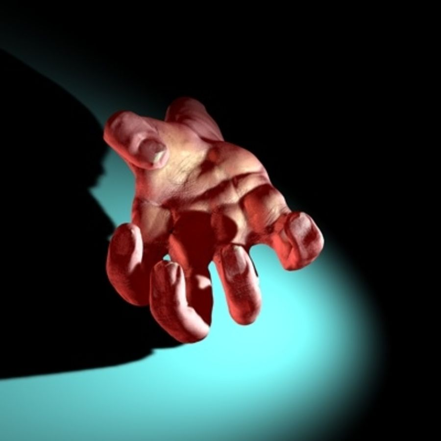 LowPoly Hand royalty-free 3d model - Preview no. 8
