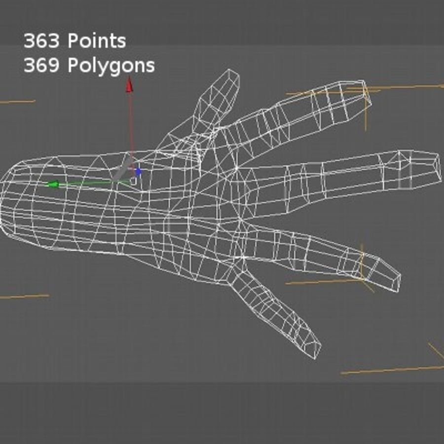 LowPoly Hand royalty-free 3d model - Preview no. 14