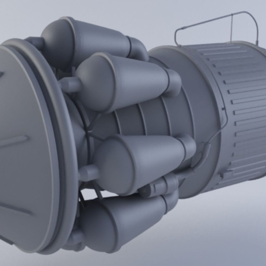Hi-Poly Jet Engine MKIII royalty-free 3d model - Preview no. 4