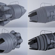 Hi-poly Jet Engine MKIII 3d model