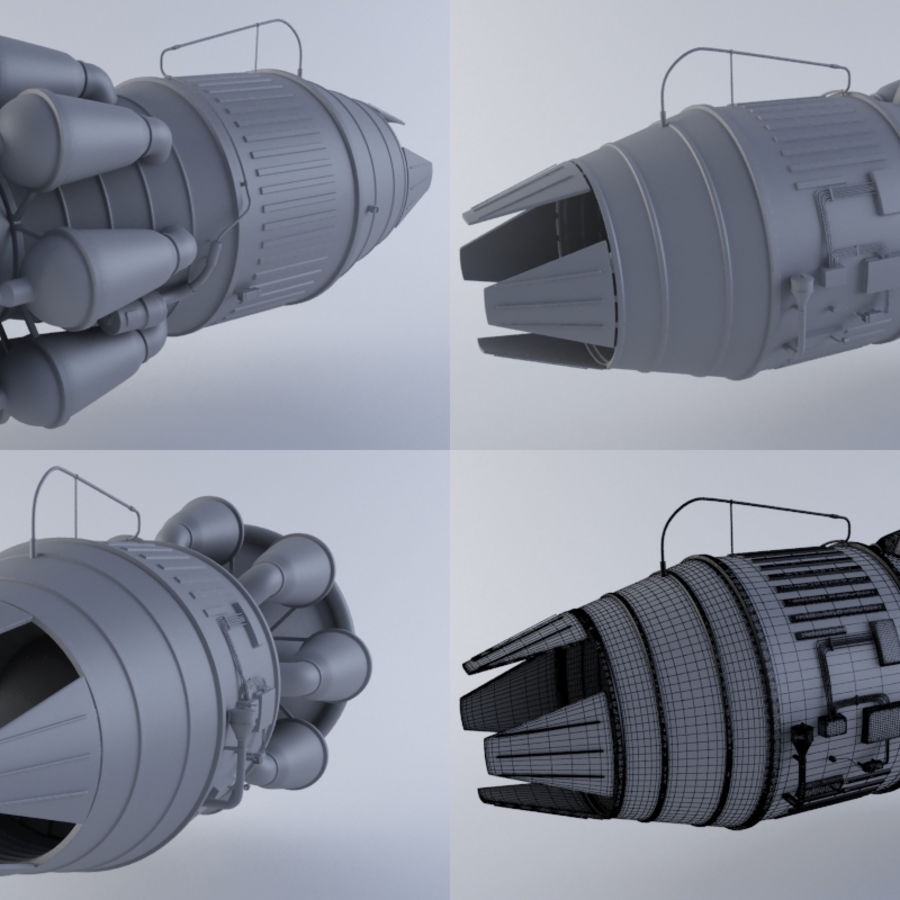 Hi-Poly Jet Engine MKIII royalty-free 3d model - Preview no. 1