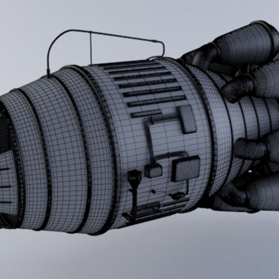 Hi-Poly Jet Engine MKIII royalty-free 3d model - Preview no. 6