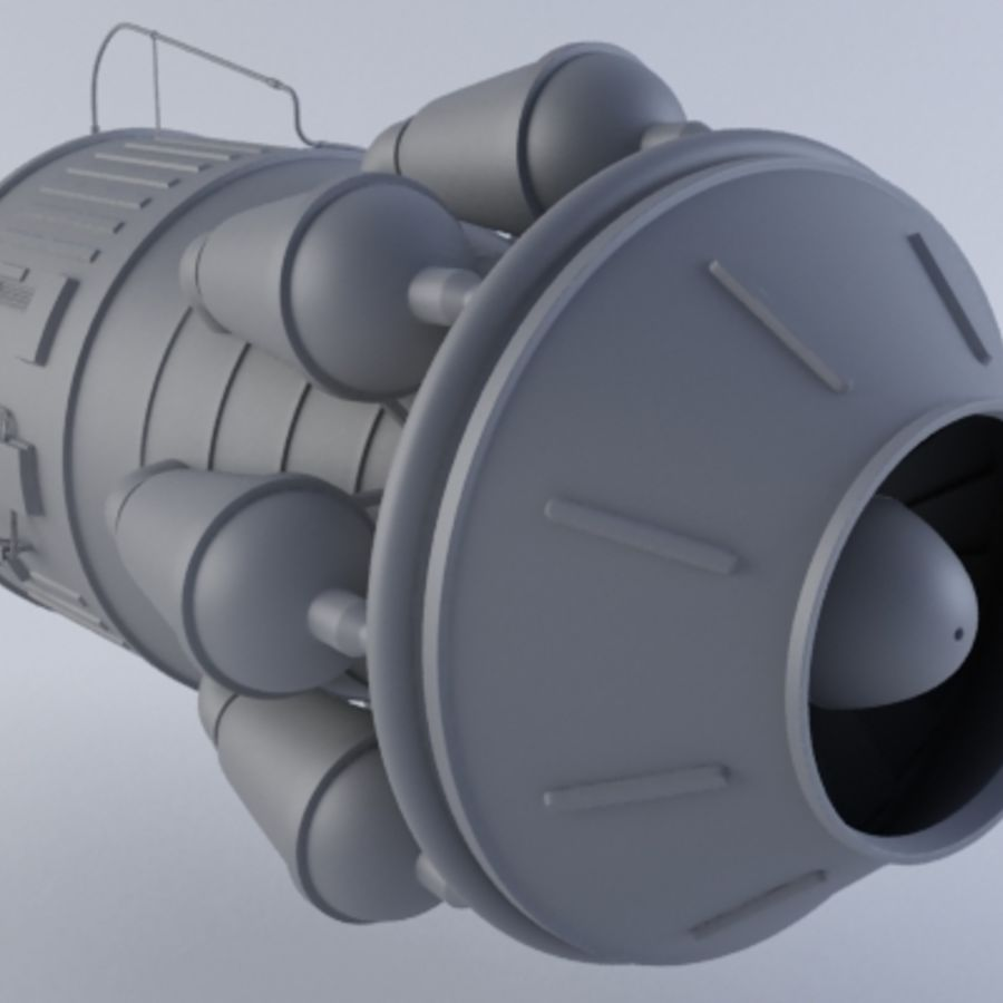 Hi-Poly Jet Engine MKIII royalty-free 3d model - Preview no. 2
