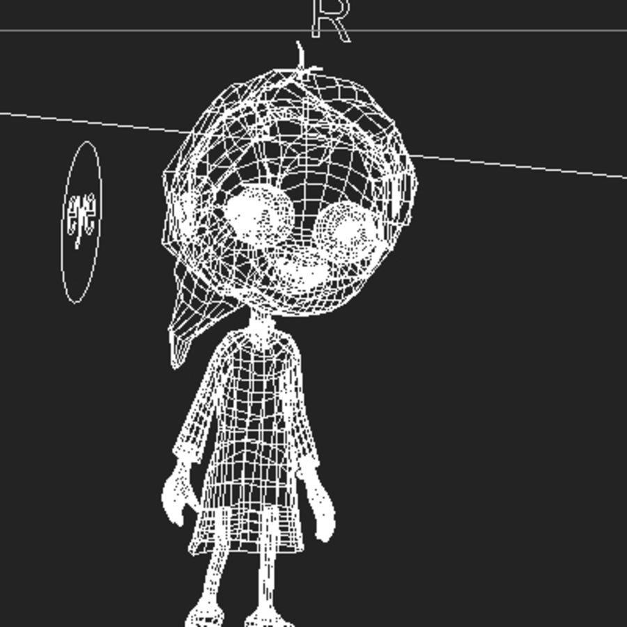 Menina dos desenhos animados bethy royalty-free 3d model - Preview no. 9