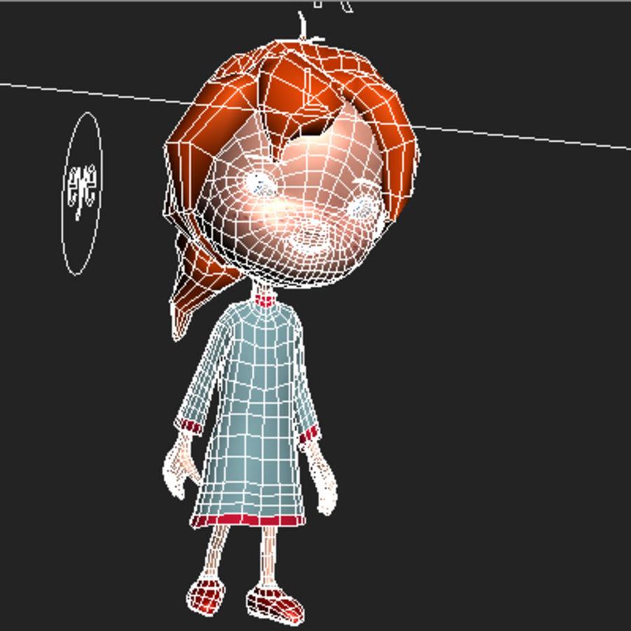 Menina dos desenhos animados bethy royalty-free 3d model - Preview no. 10