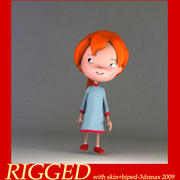 Cartoon girl bethy 3d model