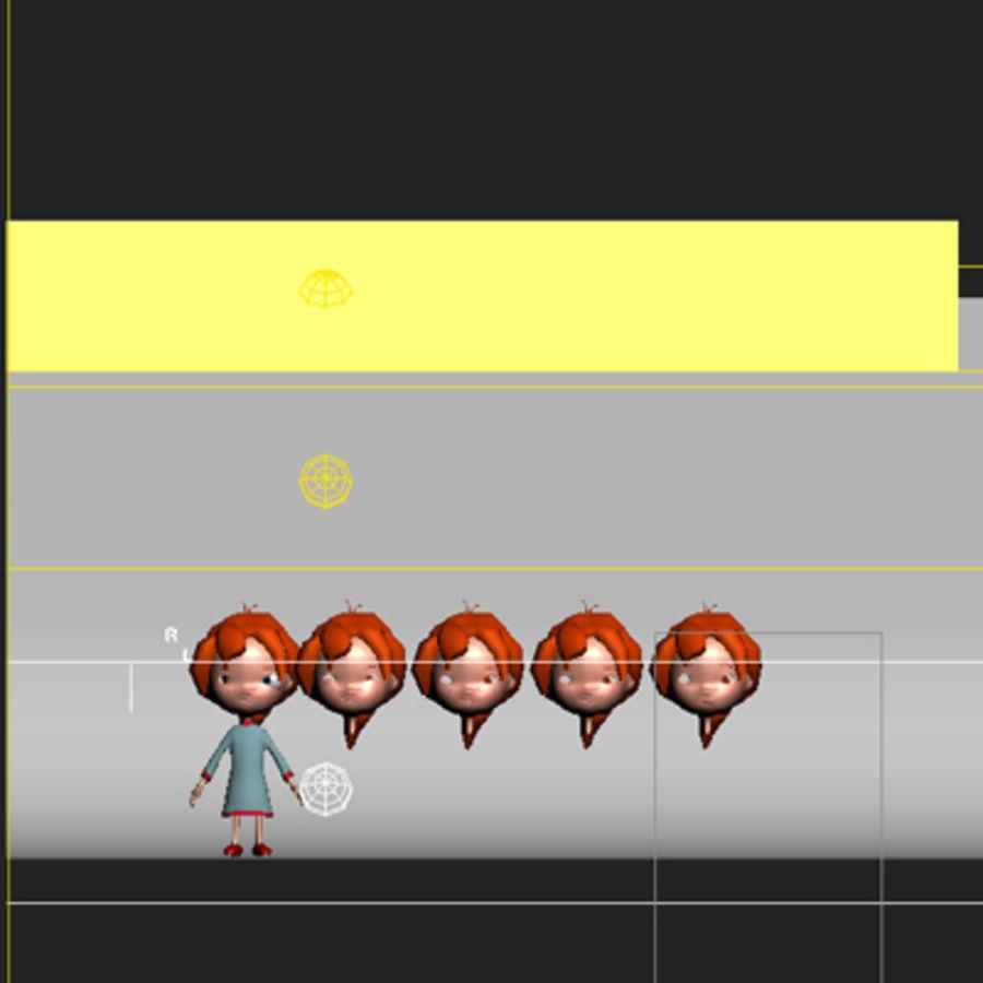 Menina dos desenhos animados bethy royalty-free 3d model - Preview no. 11
