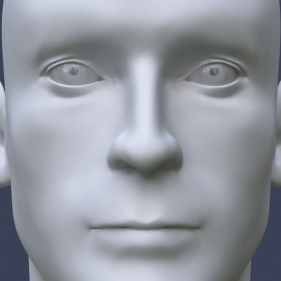 Male head royalty-free 3d model - Preview no. 5