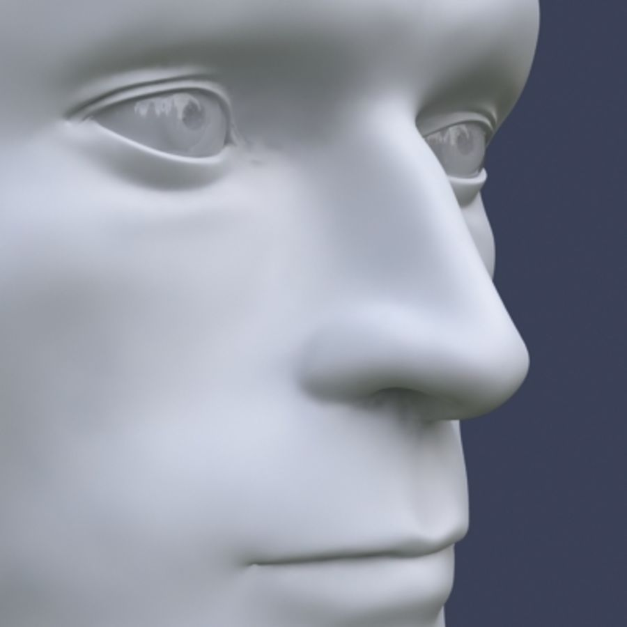 Male head royalty-free 3d model - Preview no. 6
