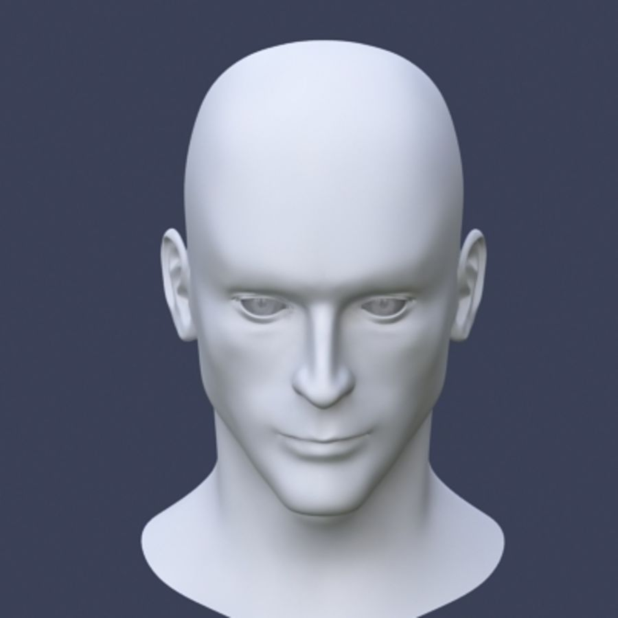 Tête masculine royalty-free 3d model - Preview no. 4