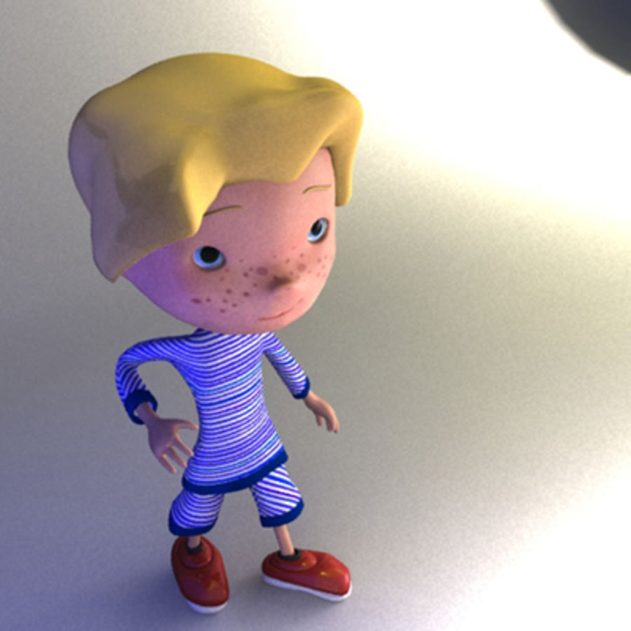 Cartoon boy Christopher royalty-free 3d model - Preview no. 10