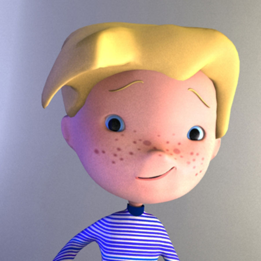 Cartoon boy Christopher royalty-free 3d model - Preview no. 4