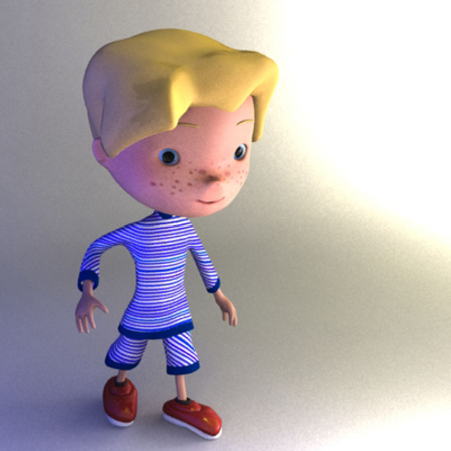 Cartoon boy Christopher royalty-free 3d model - Preview no. 3