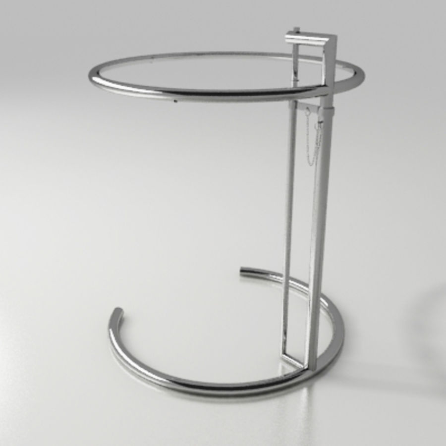 Eileen Gray Side Table Royalty Free 3d Model Preview No 1
