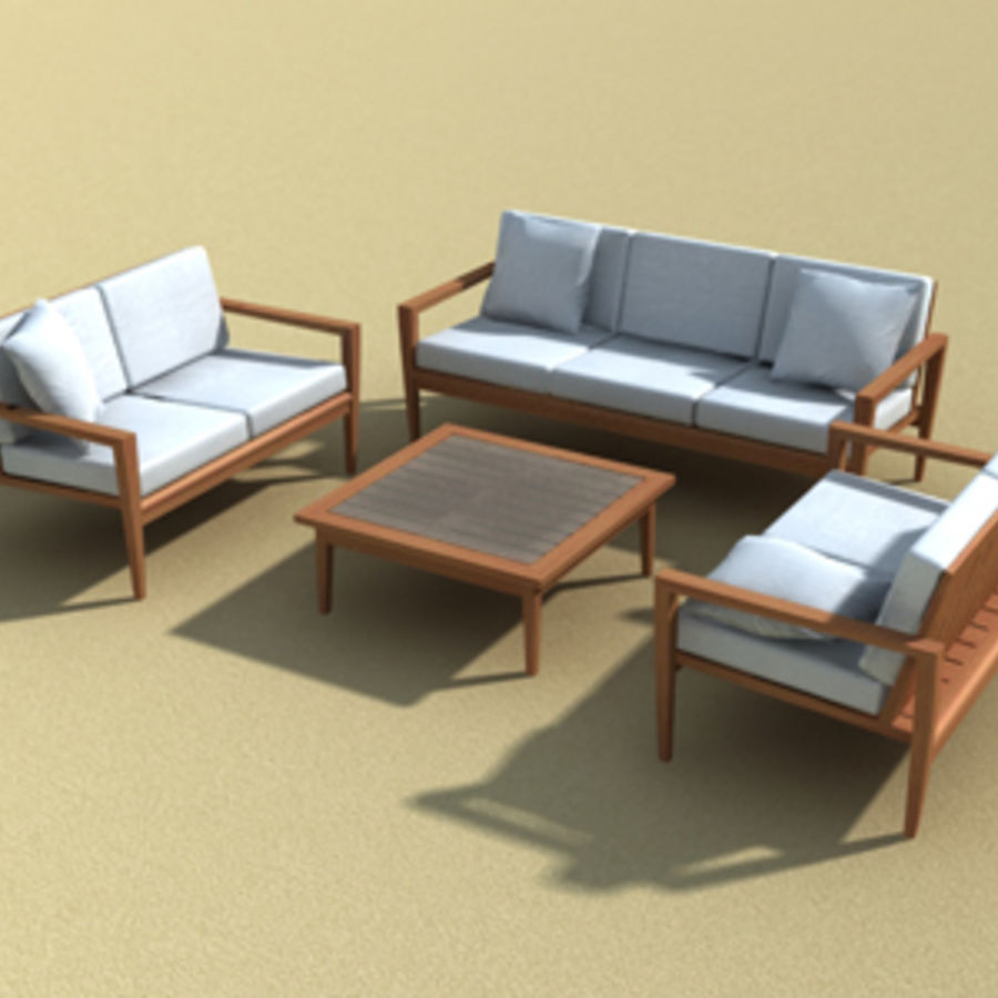 Amalfi teak outdoor furniture 3d model 15 skp oth for Outdoor furniture 3d max