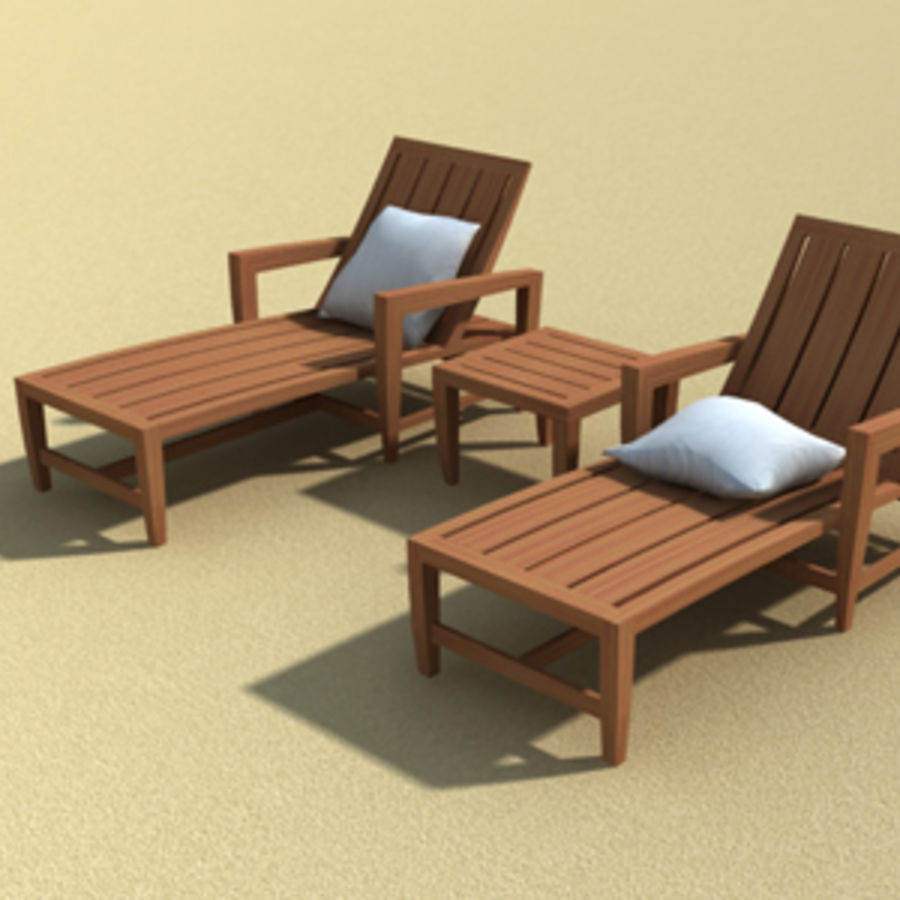 Amalfi Teak Outdoor furniture royalty-free 3d model - Preview no. 11