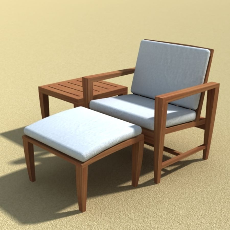 Amalfi Teak Outdoor furniture royalty-free 3d model - Preview no. 7