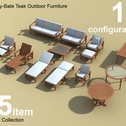 Amalfi Teak Dış mekan mobilyaları 3d model