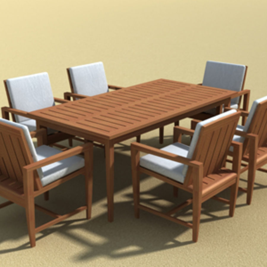Amalfi Teak Outdoor furniture royalty-free 3d model - Preview no. 5