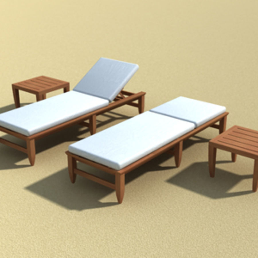 Amalfi Teak Outdoor furniture royalty-free 3d model - Preview no. 2