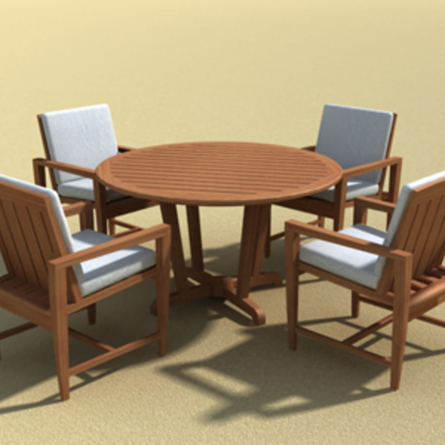 Amalfi Teak Outdoor Furniture 3d Model 15 Skp Oth