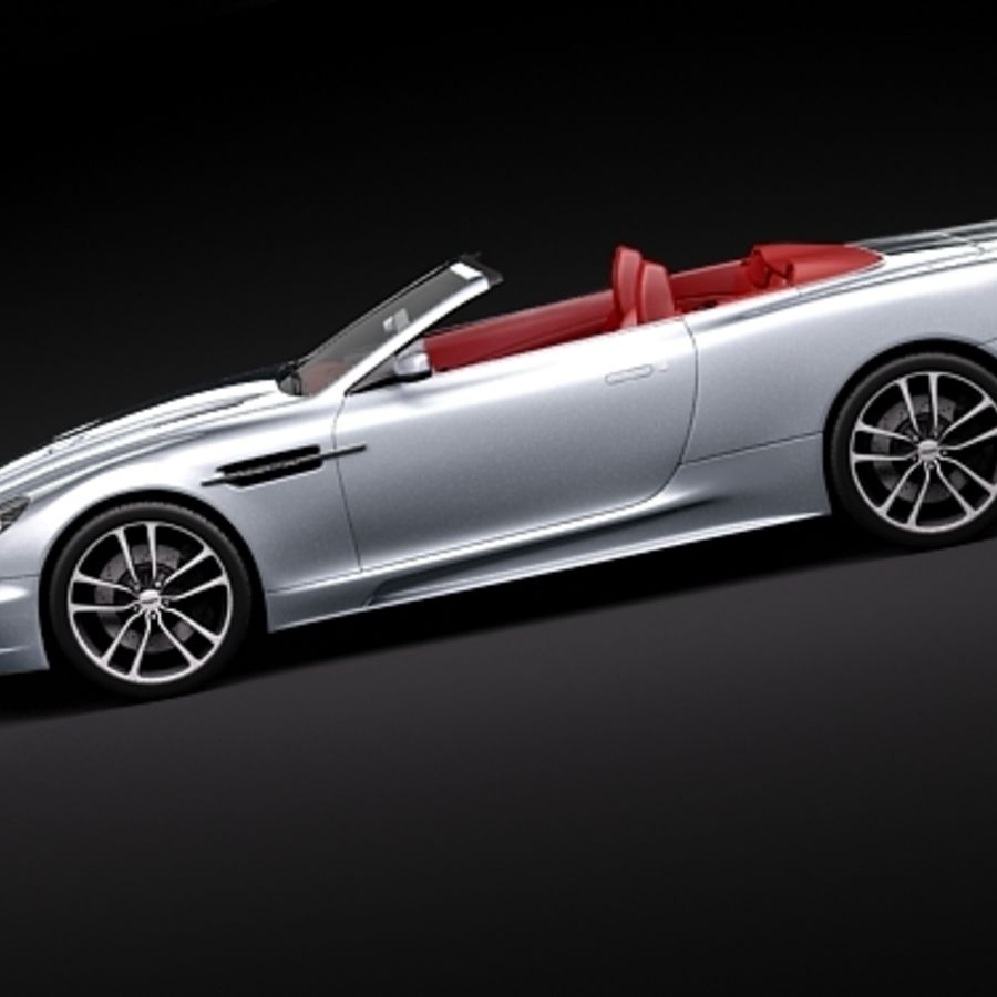 Aston Martin DBS Volante Cabrio 2010 royalty-free 3d model - Preview no. 7