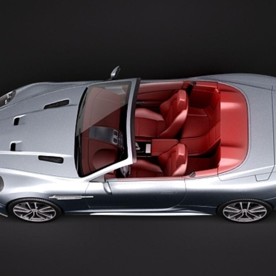 Aston Martin DBS Volante Cabrio 2010 royalty-free 3d model - Preview no. 8