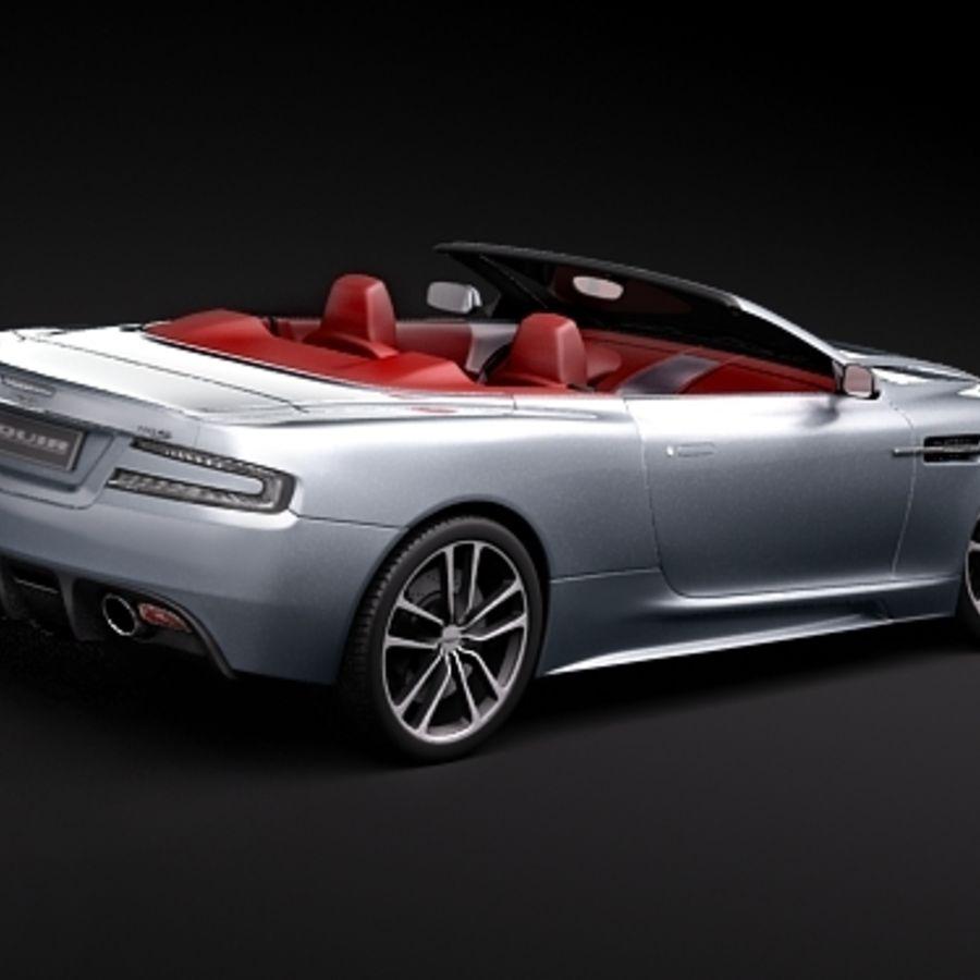 Aston Martin DBS Volante Cabrio 2010 royalty-free 3d model - Preview no. 5