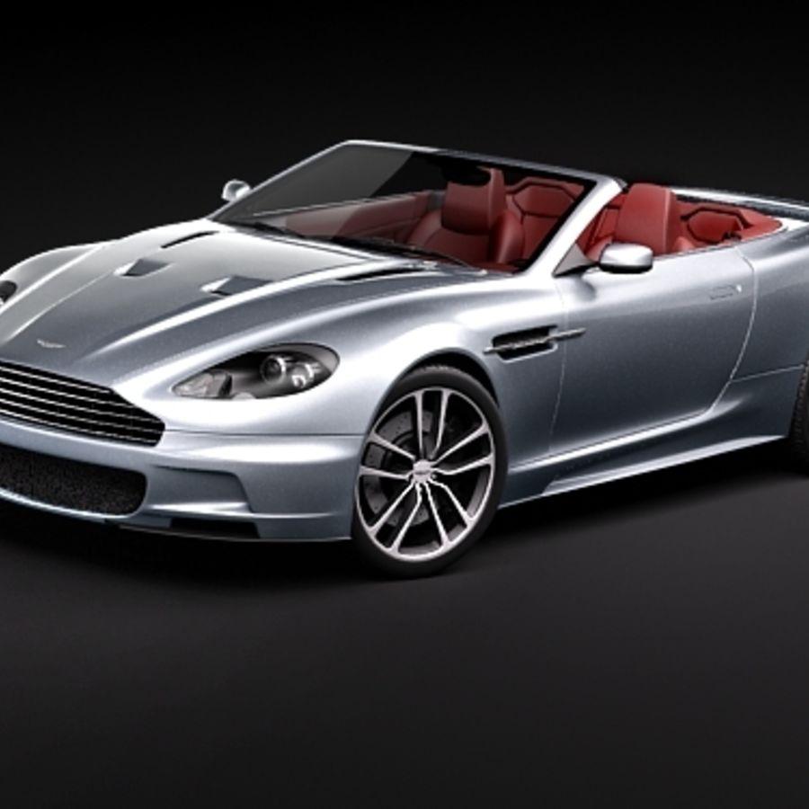 Aston Martin DBS Volante Cabrio 2010 royalty-free 3d model - Preview no. 1