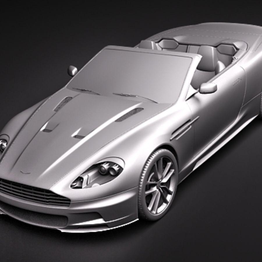 Aston Martin DBS Volante Cabrio 2010 royalty-free 3d model - Preview no. 13