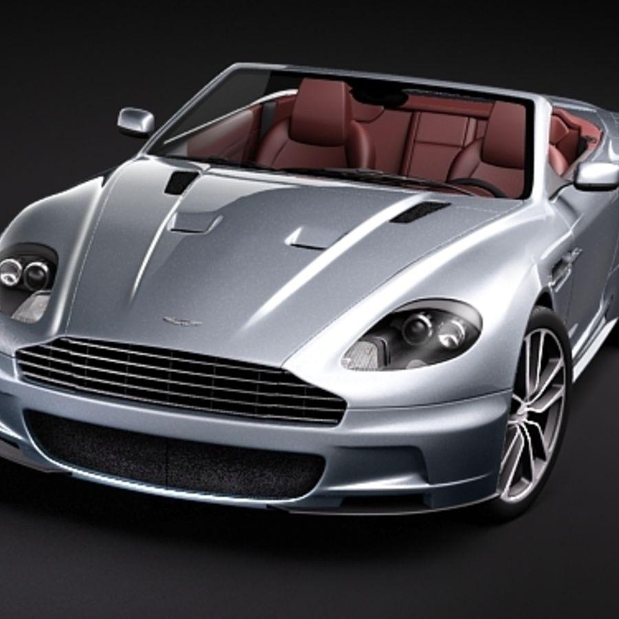 Aston Martin DBS Volante Cabrio 2010 royalty-free 3d model - Preview no. 2