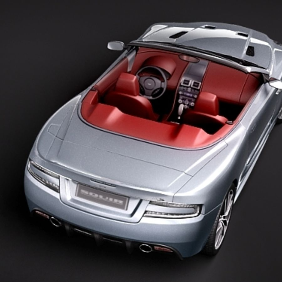 Aston Martin DBS Volante Cabrio 2010 royalty-free 3d model - Preview no. 6