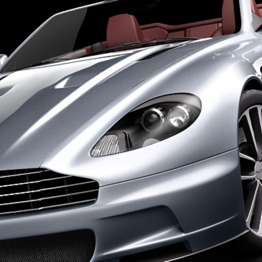 Aston Martin DBS Volante Cabrio 2010 royalty-free 3d model - Preview no. 3