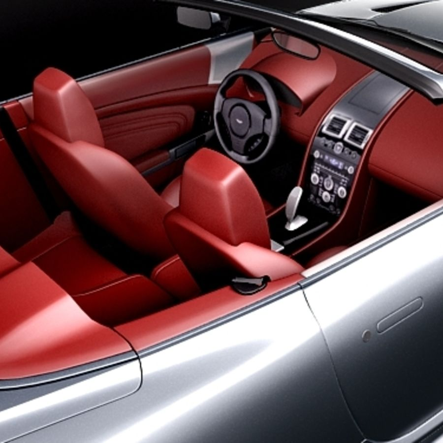 Aston Martin DBS Volante Cabrio 2010 royalty-free 3d model - Preview no. 9