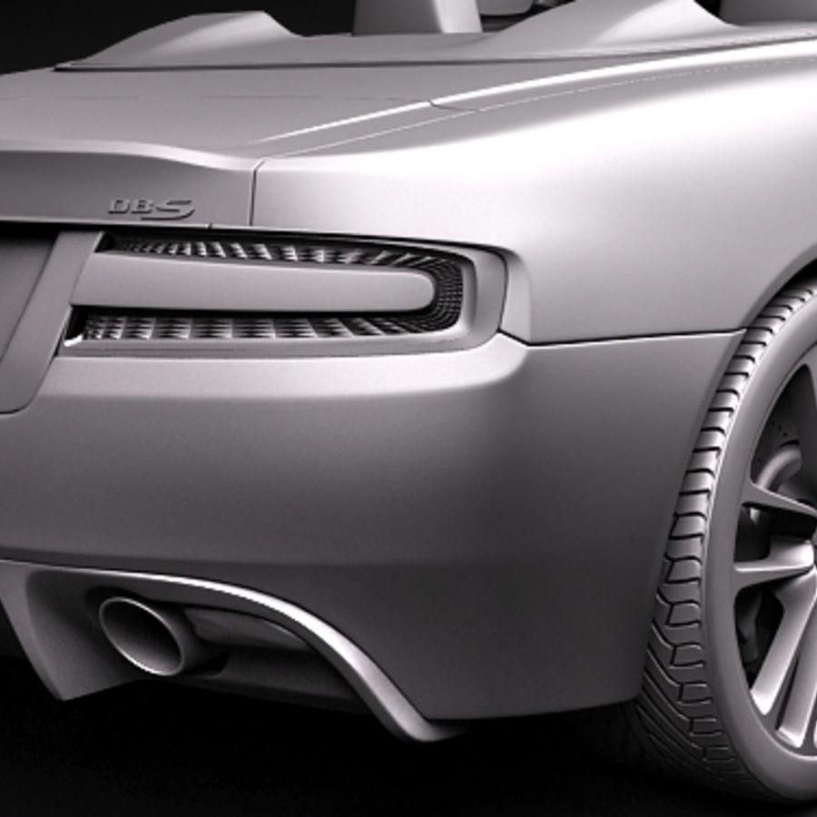 Aston Martin DBS Volante Cabrio 2010 royalty-free 3d model - Preview no. 11