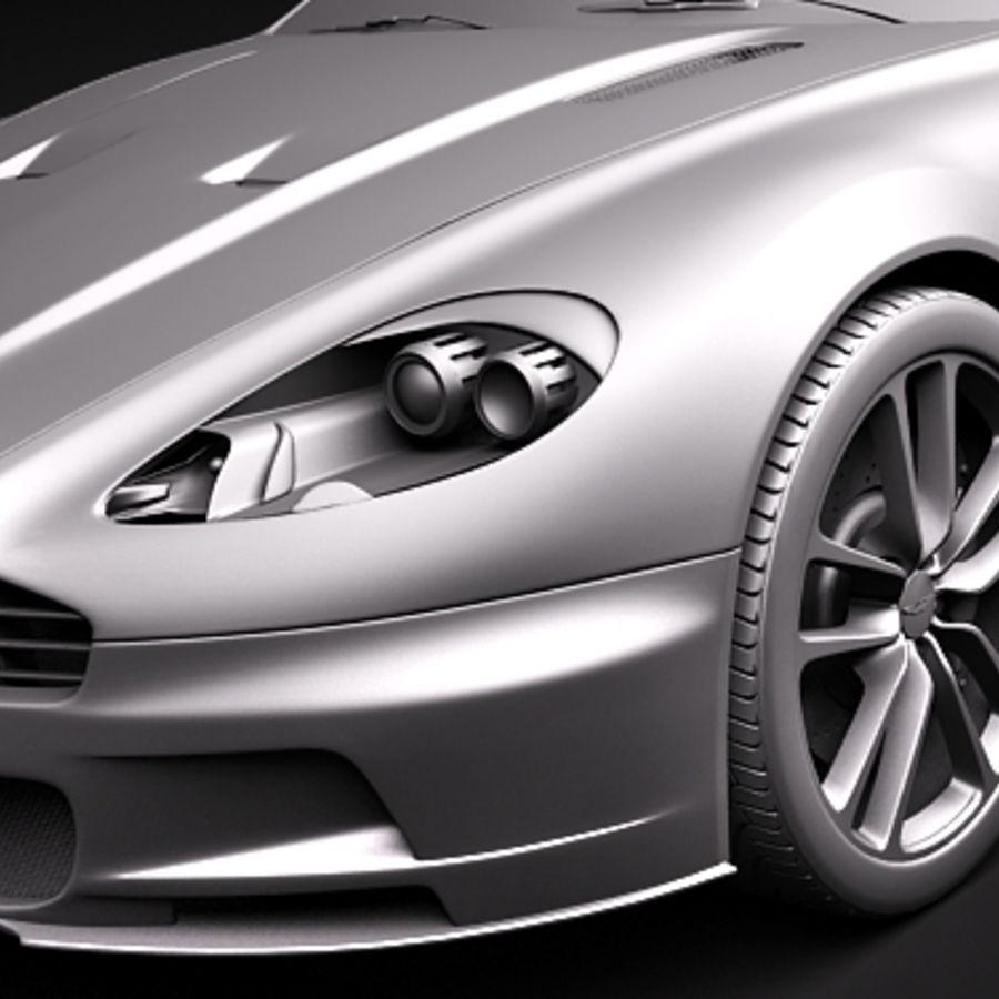 Aston Martin DBS Volante Cabrio 2010 royalty-free 3d model - Preview no. 12
